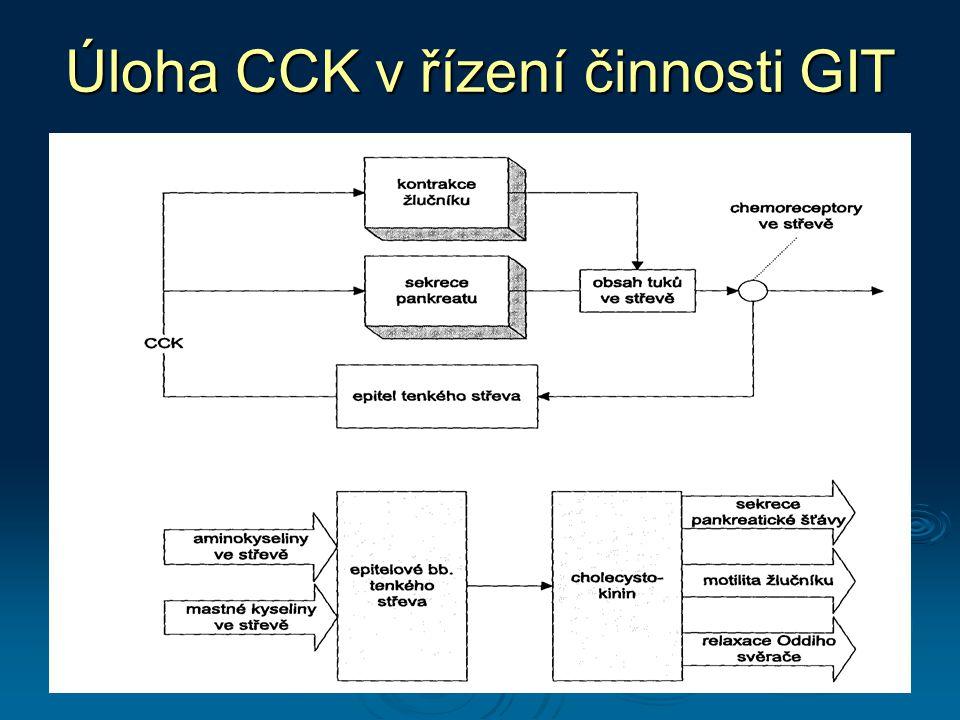 Úloha CCK v řízení činnosti GIT