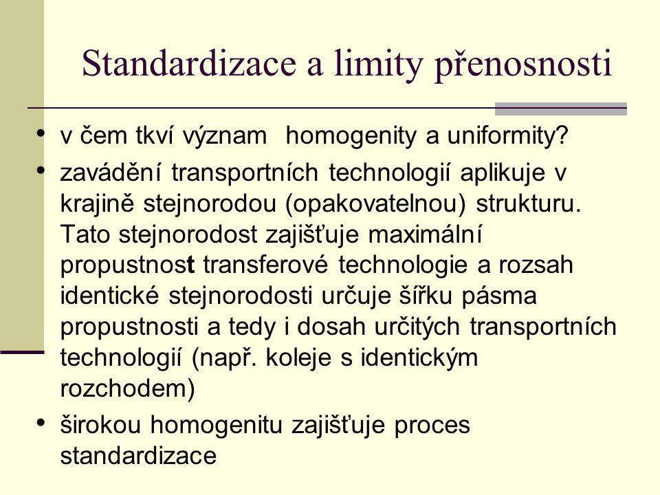 Standardizace a limity přenosnosti v čem tkví význam homogenity a uniformity.