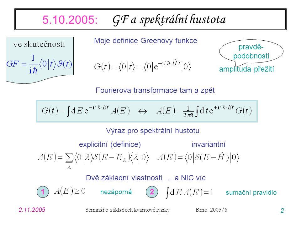 2.11.2005 Seminář o základech kvantové fyziky Brno 2005/6 33 Polaron těsně nad prahem práh