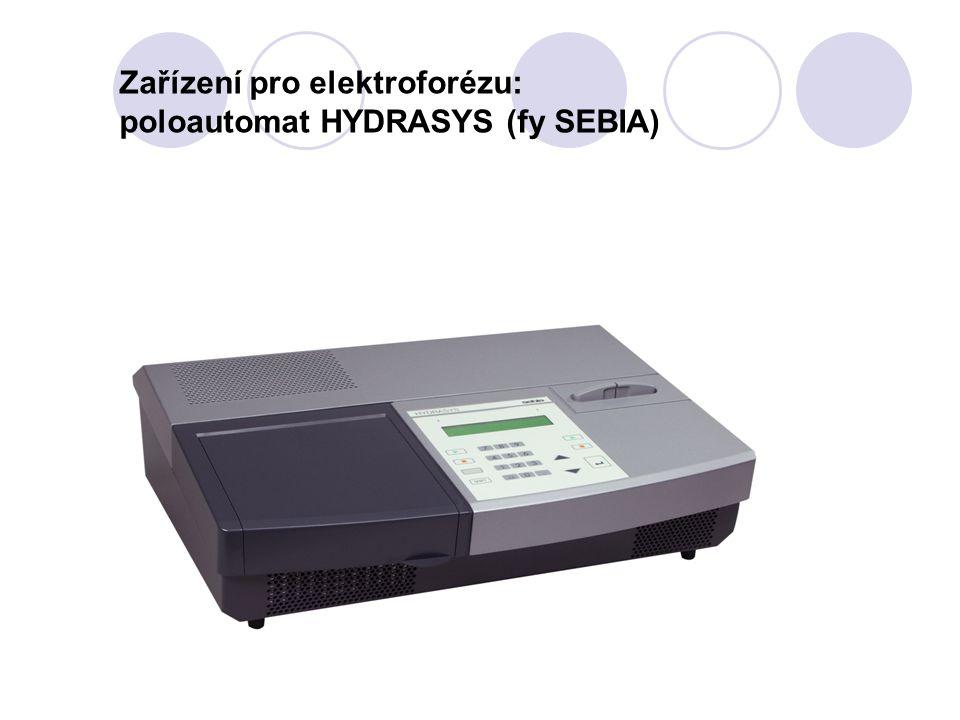 Zařízení pro elektroforézu: poloautomat HYDRASYS (fy SEBIA)