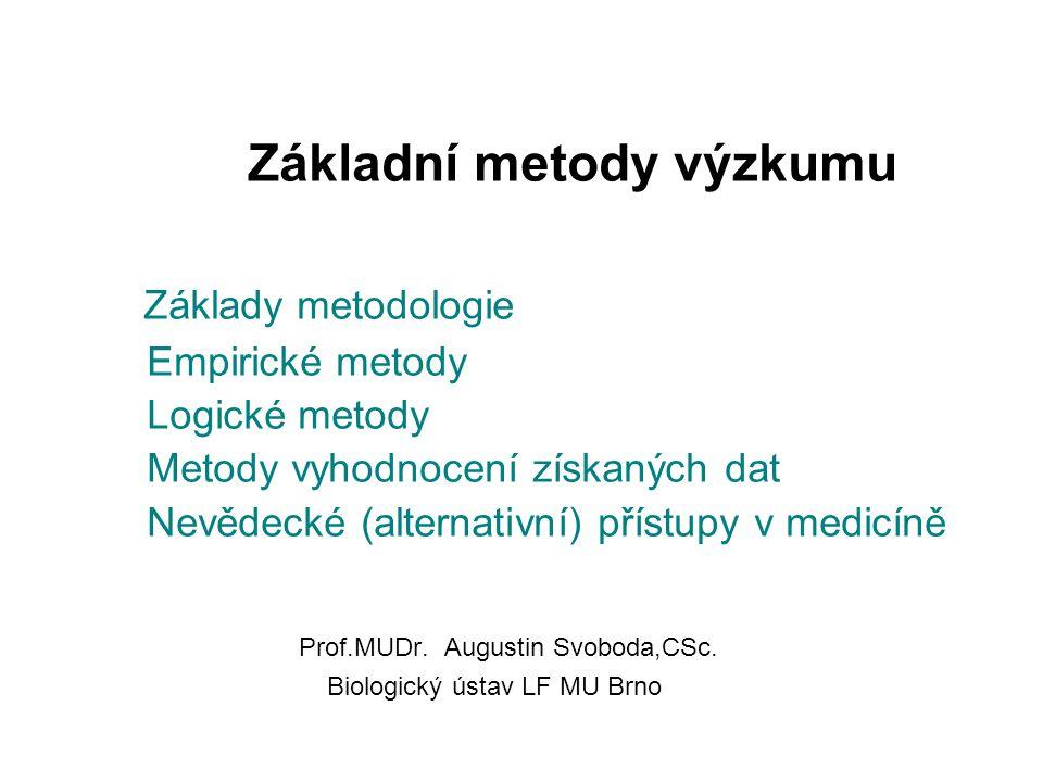 Metodologie pojednává o tom, jak se poznává.Jejím předmětem jsou poznávací metody.