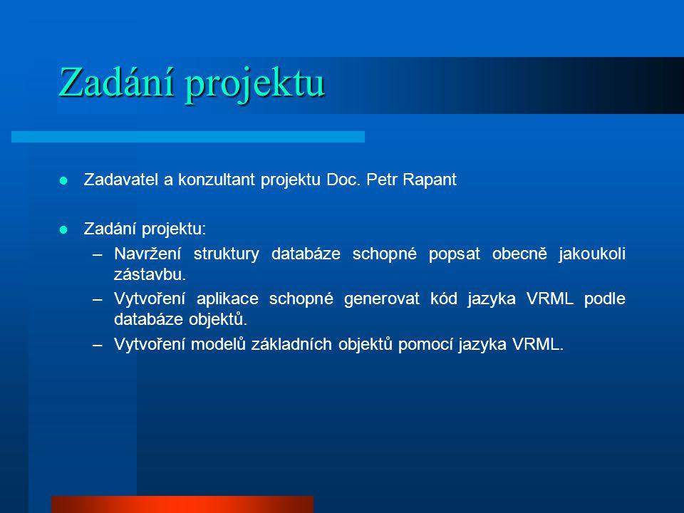 Zadání projektu Zadavatel a konzultant projektu Doc.