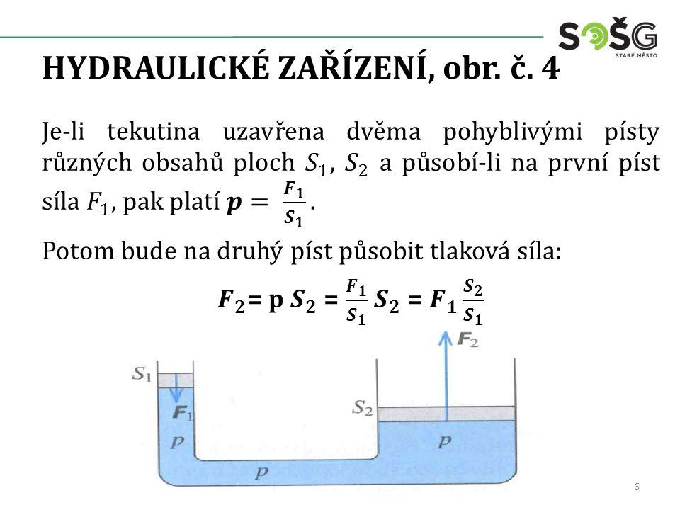 HYDROSTATICKÝ TLAK, obr. č. 5 7