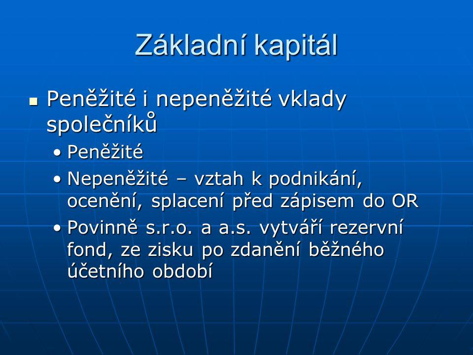 Společník a podíl Podíl -Na základě vkladu Podíl -Na základě vkladu Podíl představuje účast v obchod.