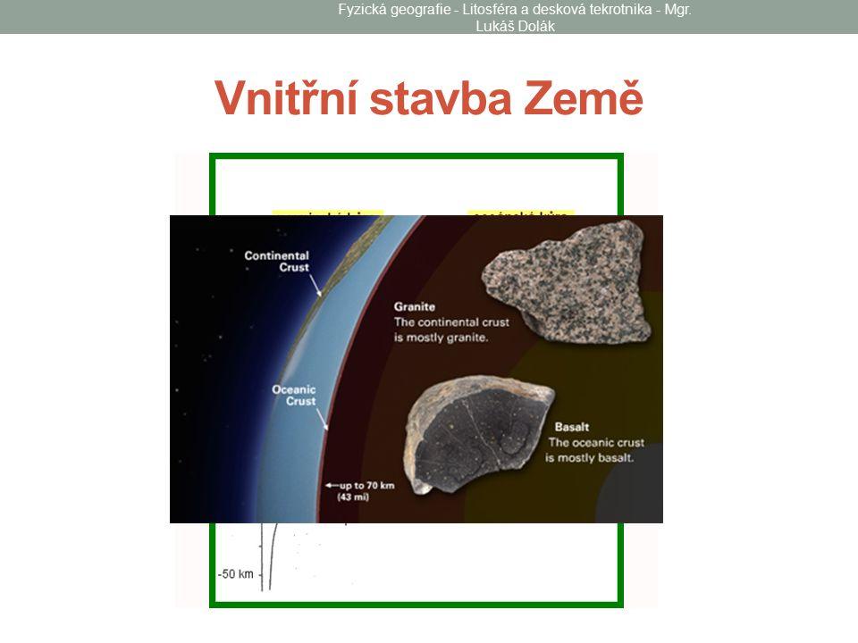 Vnitřní stavba Země Fyzická geografie - Litosféra a desková tekrotnika - Mgr. Lukáš Dolák
