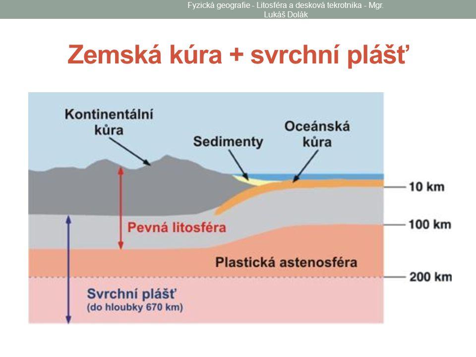 Zemská kúra + svrchní plášť Fyzická geografie - Litosféra a desková tekrotnika - Mgr. Lukáš Dolák