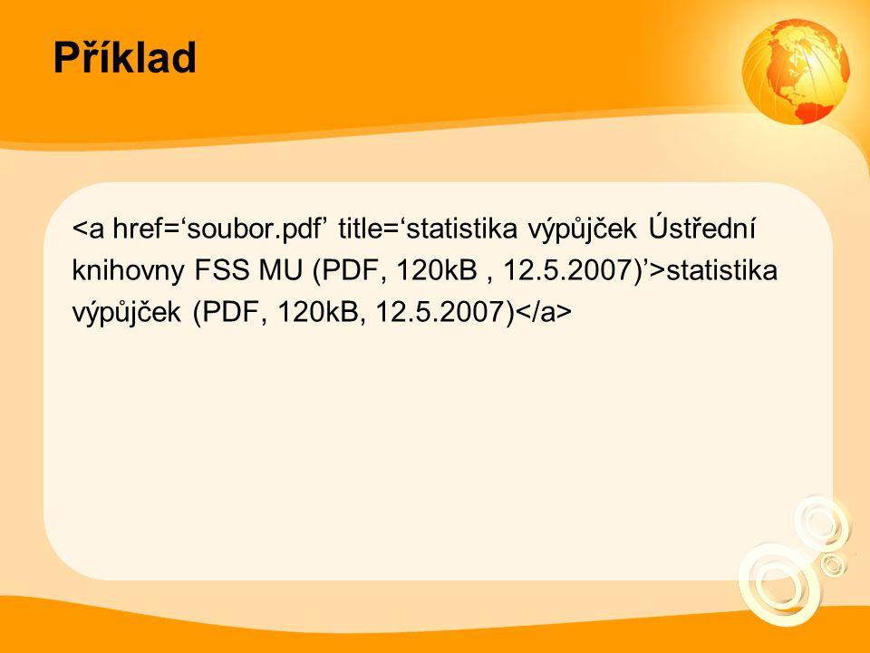 Příklad statistika výpůjček (PDF, 120kB, 12.5.2007)