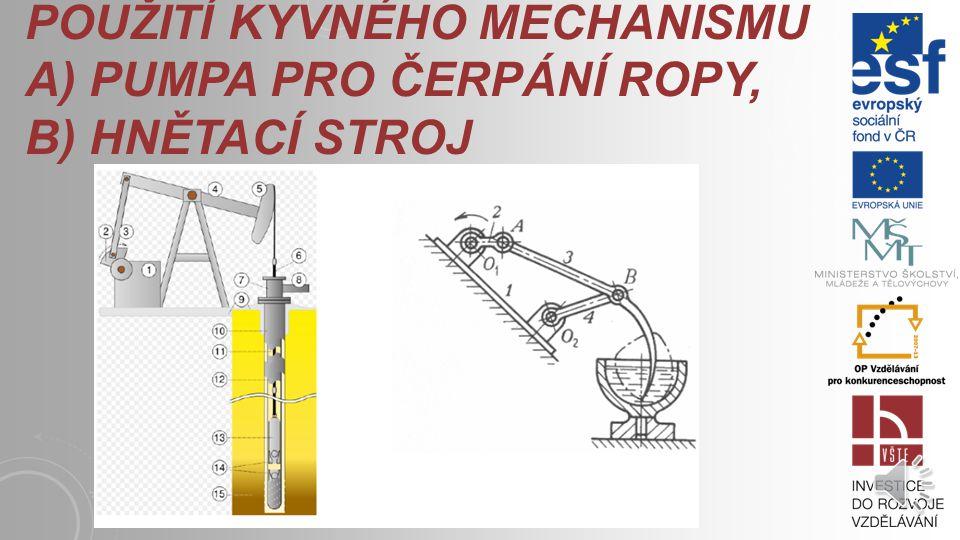Kloubové mechanismy patří do skupiny mechanismů pro transformaci pohybu – nazývají se také kinematické mechanismy. Výhody kloubových mechanismů: jedno