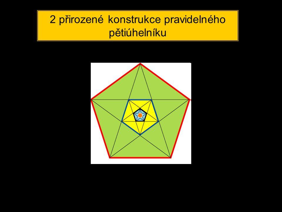 2 přirozené konstrukce pravidelného pětiúhelníku