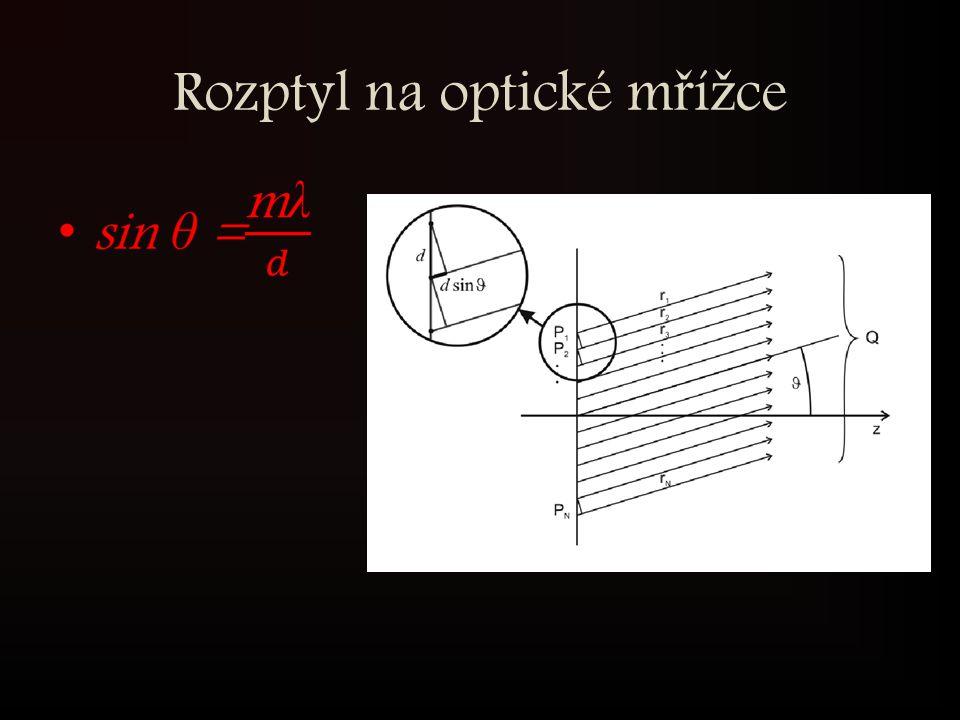 Rozptyl na optické m ř í ž ce