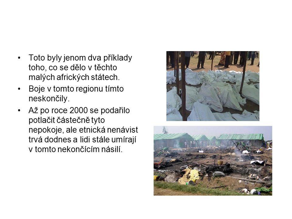 Toto byly jenom dva příklady toho, co se dělo v těchto malých afrických státech.