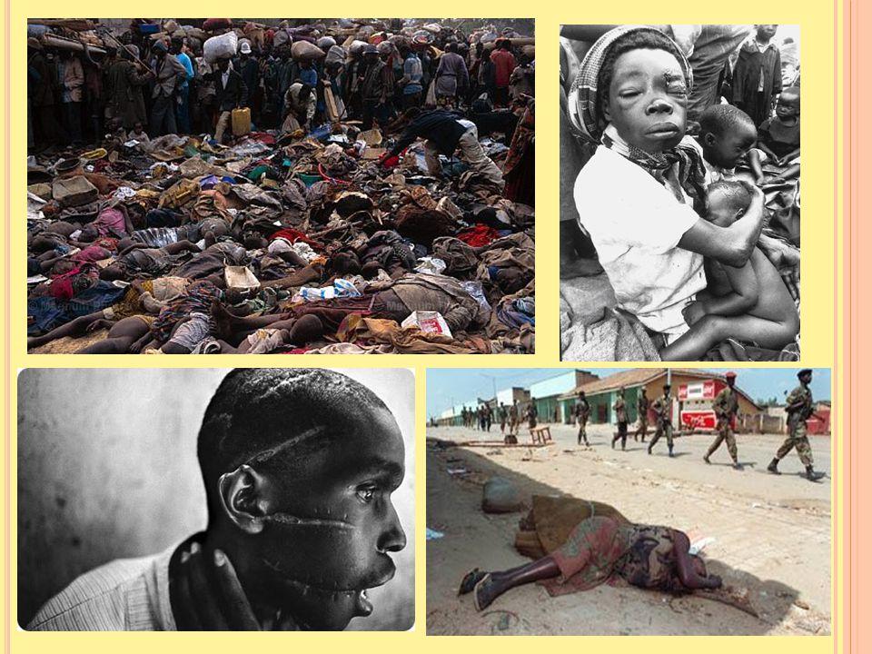 Dřevěné bedny plné mrtvých těl z masového hrobu v Ruhashji v roce 2005 Zdroj: http://zpravy.idnes.cz/rwanda-zpristupnila-archiv-o-genocide-prozradi-po