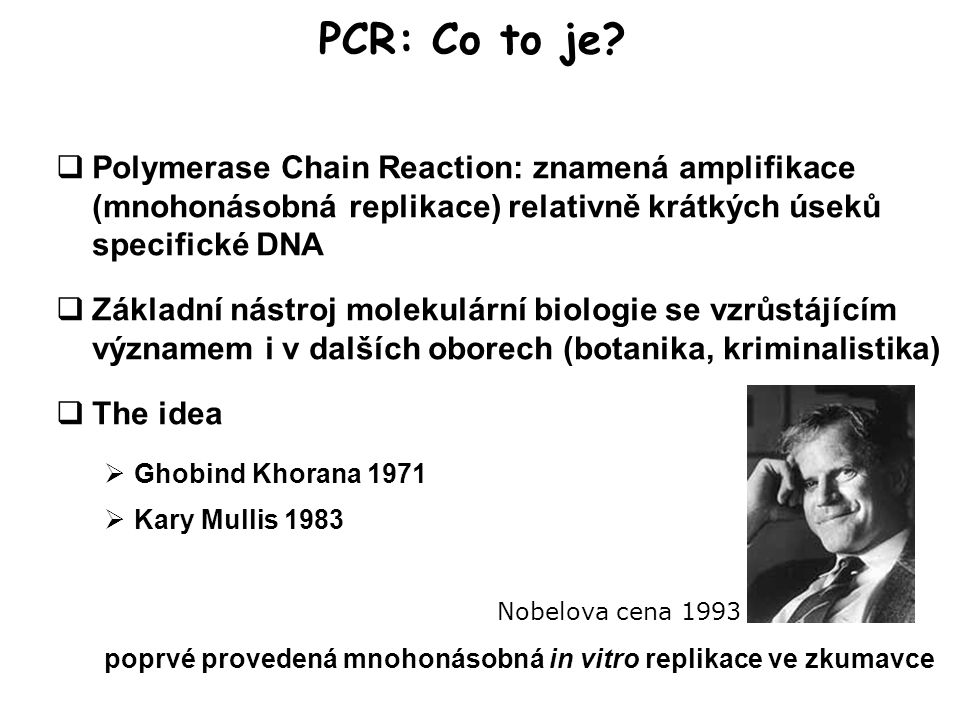 PCR: Co to je.