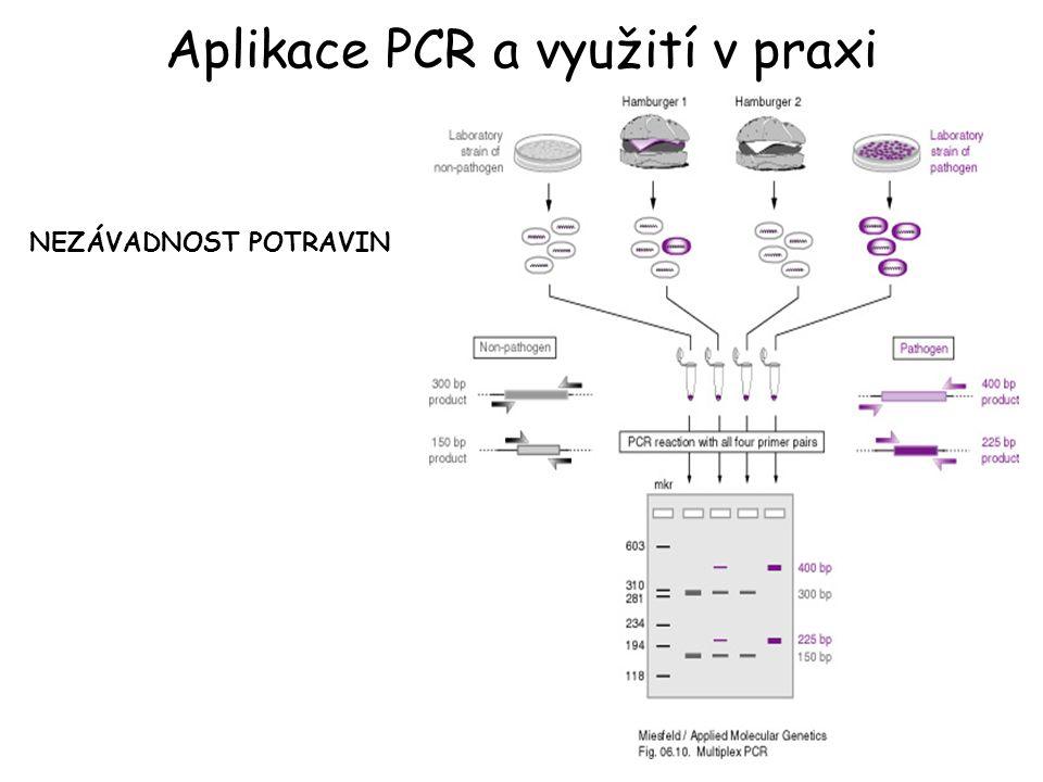Aplikace PCR a využití v praxi NEZÁVADNOST POTRAVIN