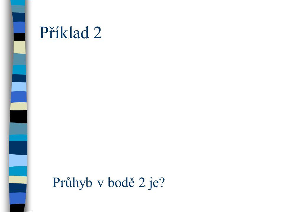 Příklad 2 Průhyb v bodě 2 je?