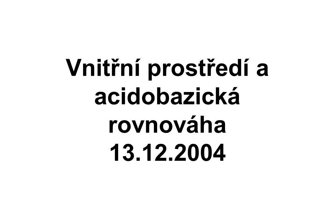 Vnitřní prostředí a acidobazická rovnováha 13.12.2004