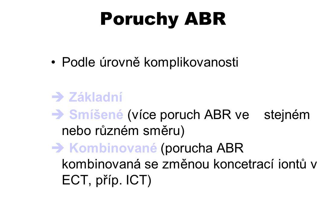 Poruchy ABR Podle úrovně komplikovanosti  Základní  Smíšené (více poruch ABR ve stejném nebo různém směru)  Kombinované (porucha ABR kombinovaná se