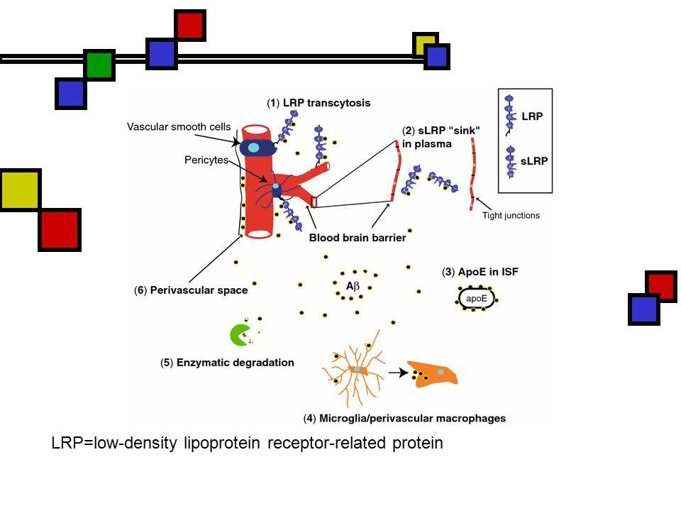 LRP=low-density lipoprotein receptor-related protein