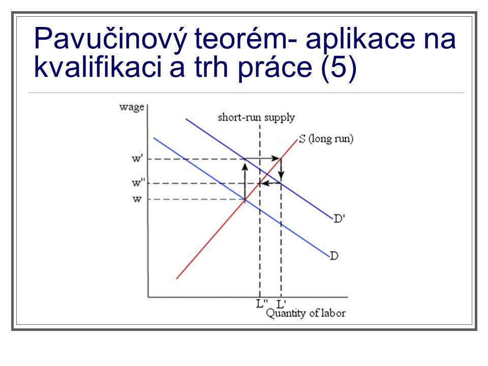 Pavučinový teorém- aplikace na kvalifikaci a trh práce (5)