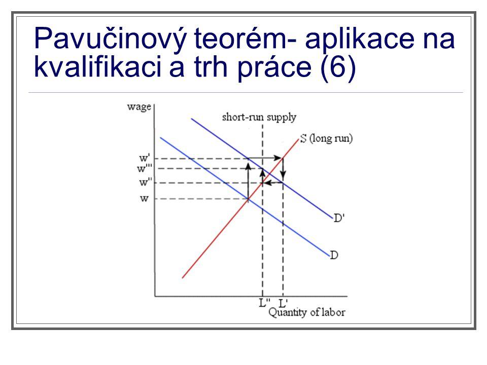 Pavučinový teorém- aplikace na kvalifikaci a trh práce (6)