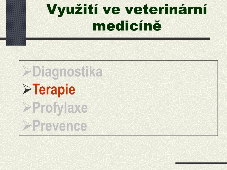 Využití ve veterinární medicíně   Diagnostika   Terapie   Profylaxe   Prevence