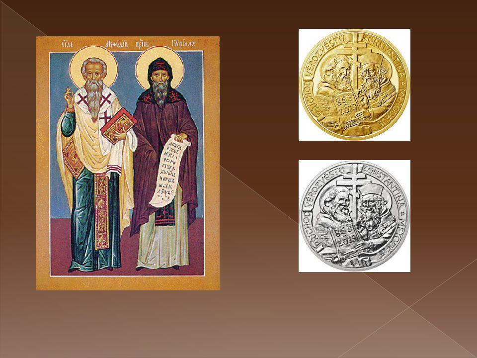 Cyril a Metoděj  Cyril a Metoděj přišli roku 863 ze Soluně na Moravu.