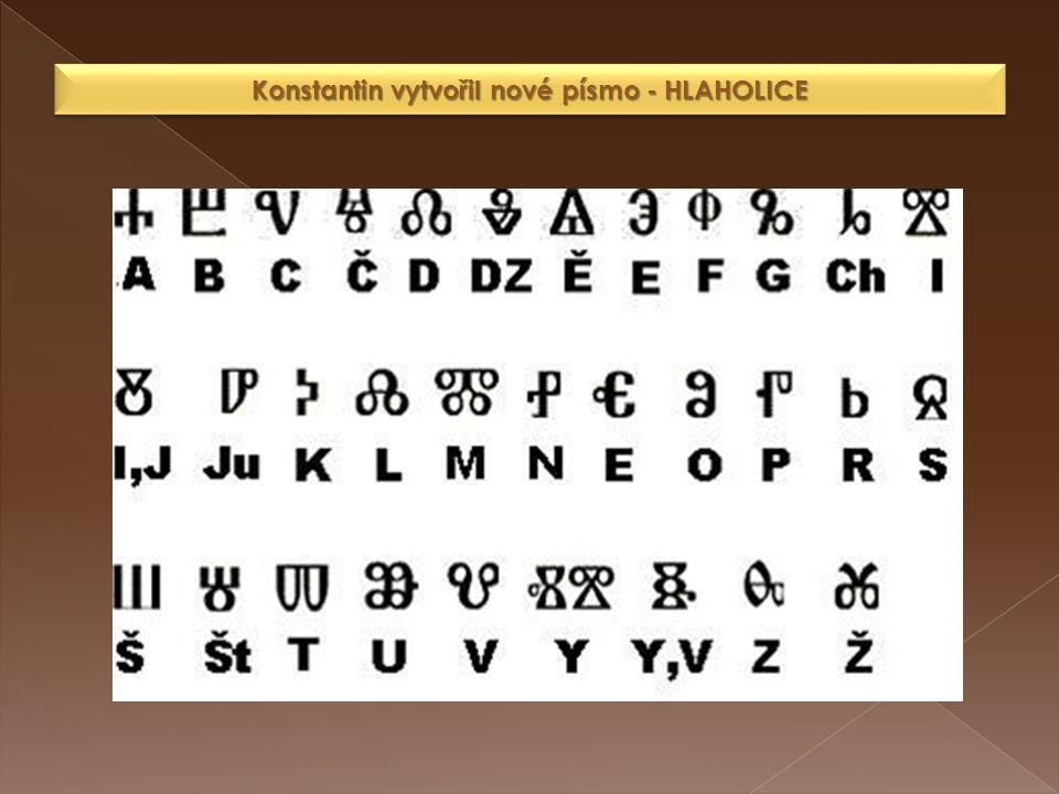 Konstantin vytvořil nové písmo - HLAHOLICE