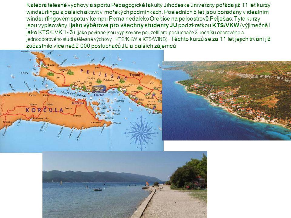 Kemp Perna u letoviska Orebič leží severozápadní části Pelješace přímo naproti krásnému starobylému městu Korčula.Orebič je vyhlášené letovisko tzv.