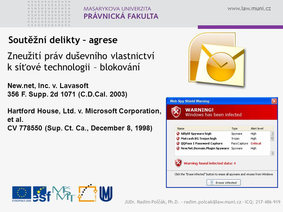 www.law.muni.cz JUDr. Radim Polčák, Ph.D.