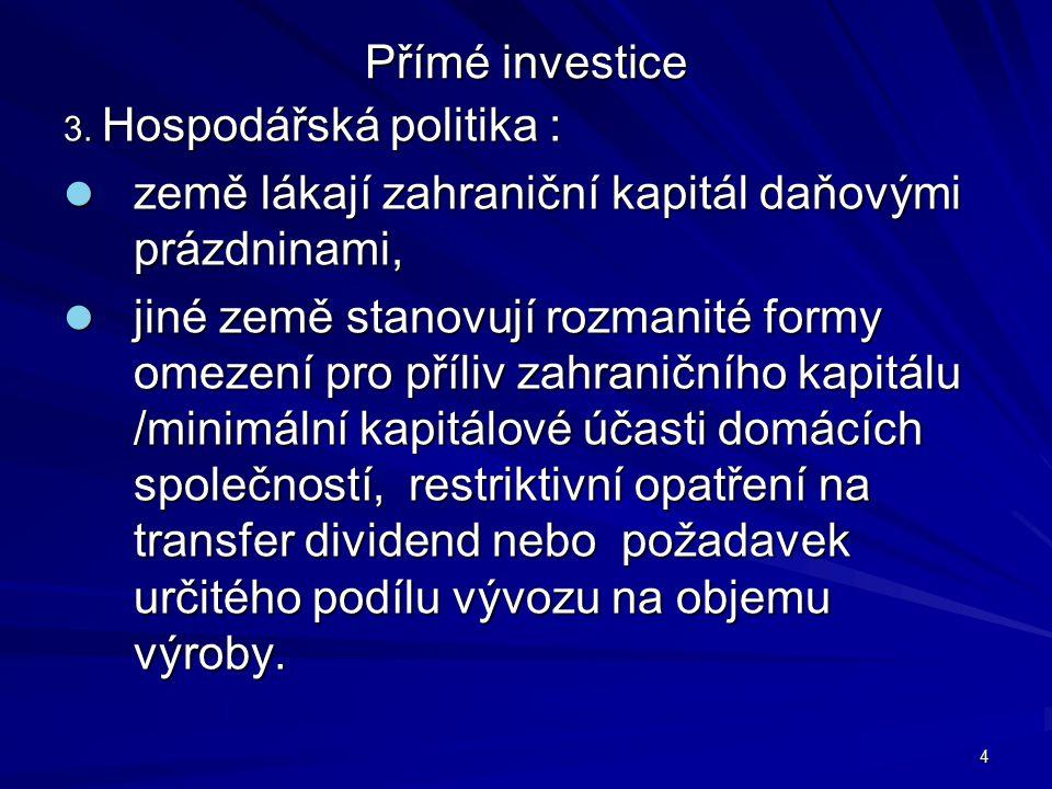 Přímé investice 3.