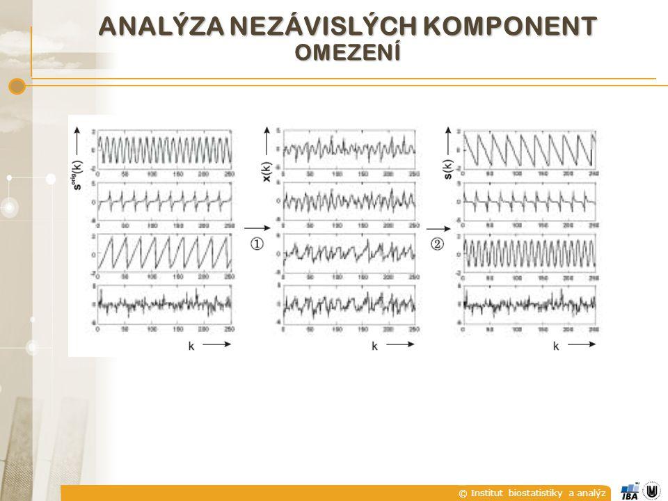 © Institut biostatistiky a analýz ANALÝZA NEZÁVISLÝCH KOMPONENT OMEZENÍ