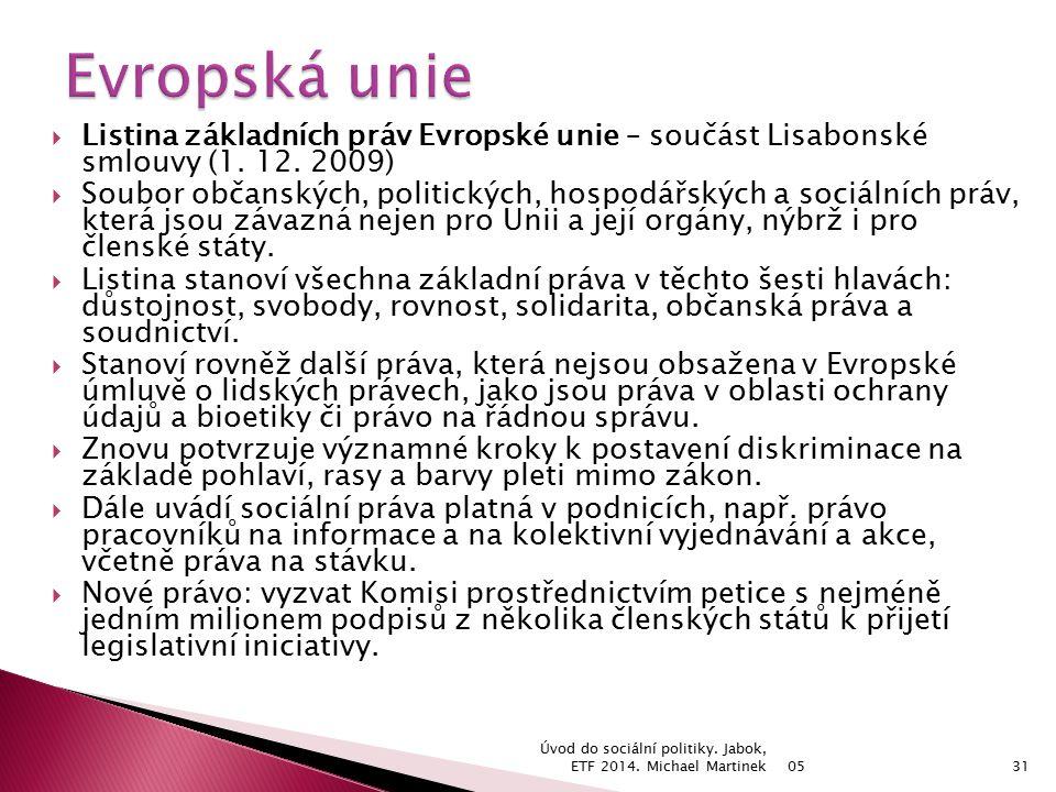  Listina základních práv Evropské unie – součást Lisabonské smlouvy (1.