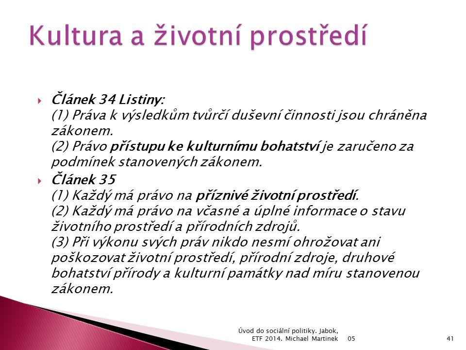 05 Úvod do sociální politiky. Jabok, ETF 2014.