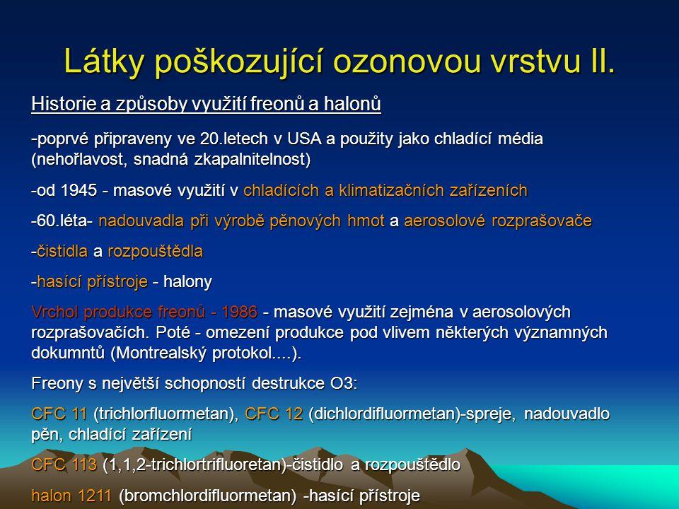 Látky poškozující ozonovou vrstvu II.