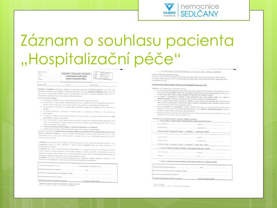 Omezovací prostředky  Vypracovaný vnitřní předpis  Forma a rozsah vyšetření pacienta  Indikace a omezení pacienta  Omezení prováděno a dokumentace vedena v souladu s právním řádem ČR