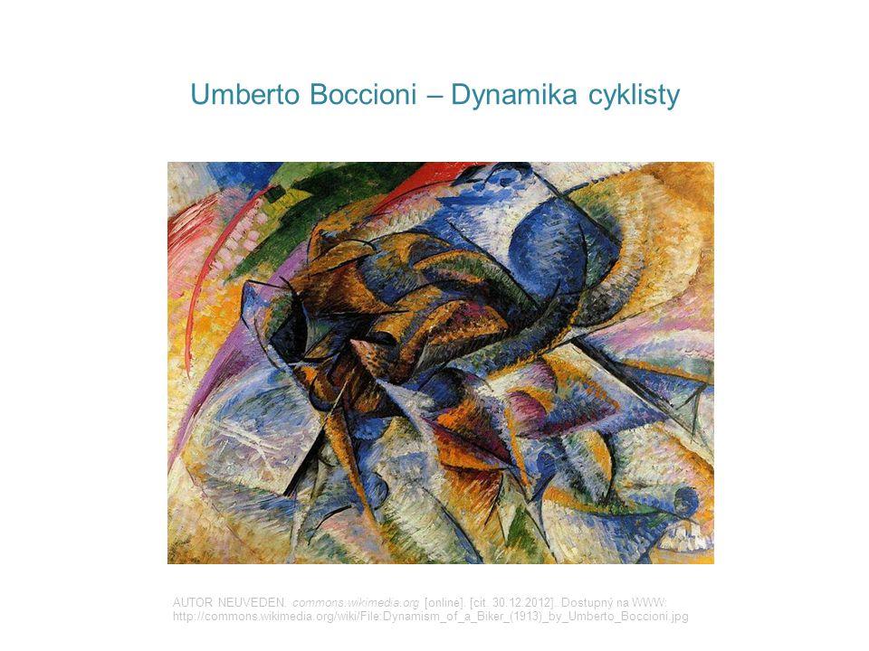 Umberto Boccioni – Hluk ulice AUTOR NEUVEDEN.commons.wikimedia.org [online].