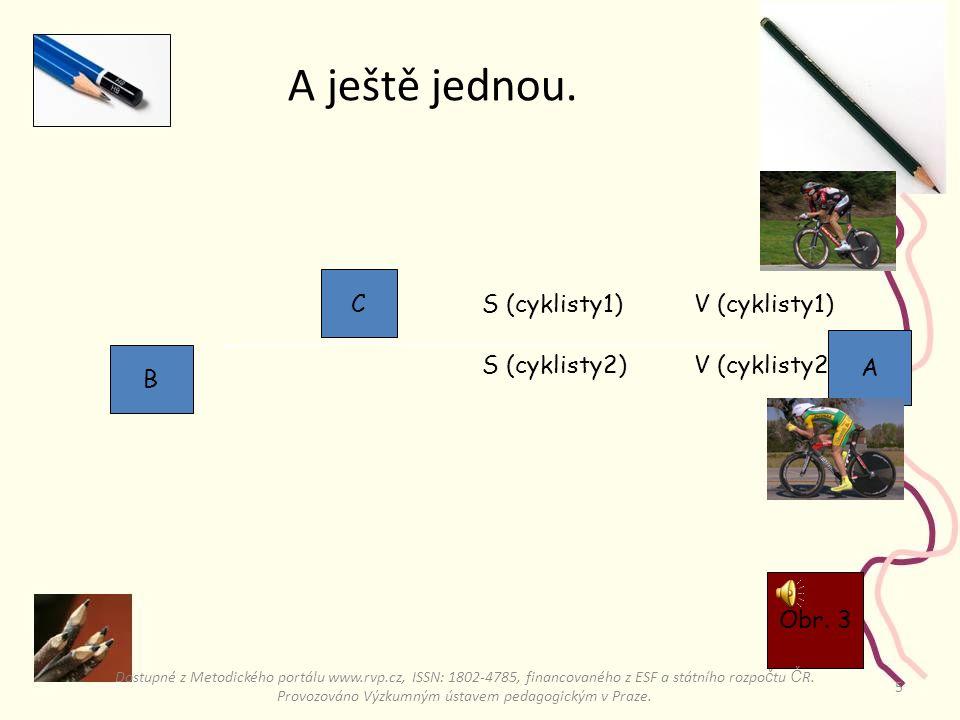 5 A ještě jednou.V (cyklisty1)S (cyklisty1) V (cyklisty2)S (cyklisty2) Obr.