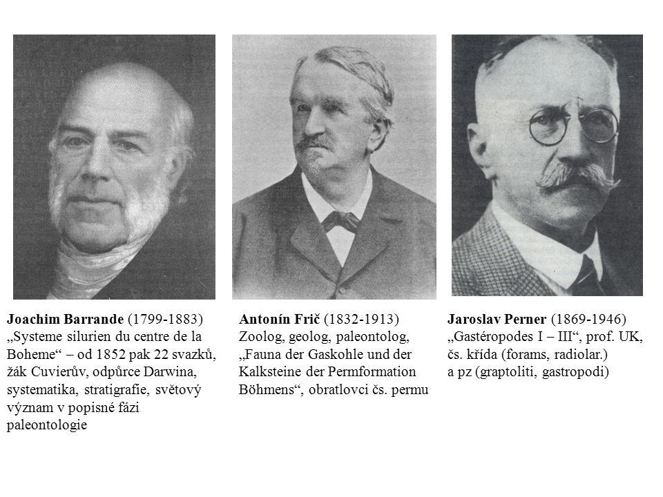 "Antonín Frič (1832-1913) Zoolog, geolog, paleontolog, ""Fauna der Gaskohle und der Kalksteine der Permformation Böhmens"", obratlovci čs. permu Joachim"