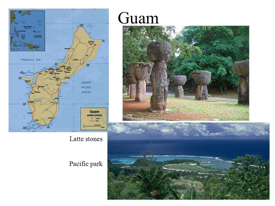 Guam Latte stones Pacific park
