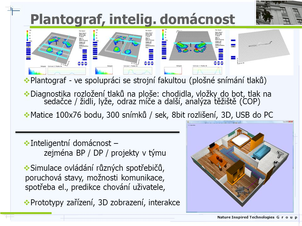 Nature Inspired Technologies G r o u p Plantograf, intelig.