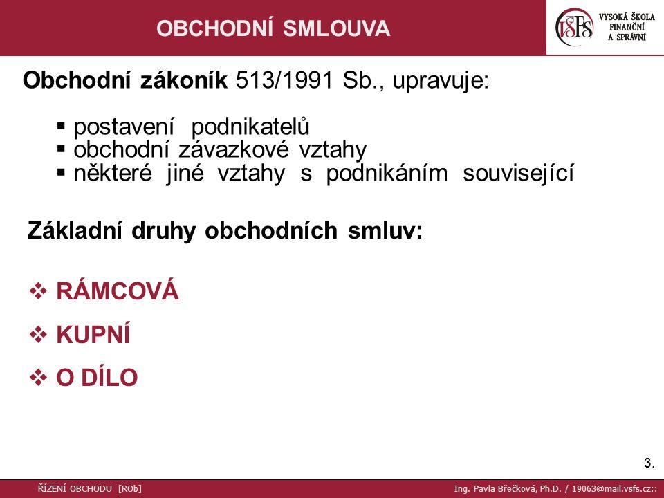 14.ŘÍZENÍ OBCHODU [ROb] Ing. Pavla Břečková, Ph.D.