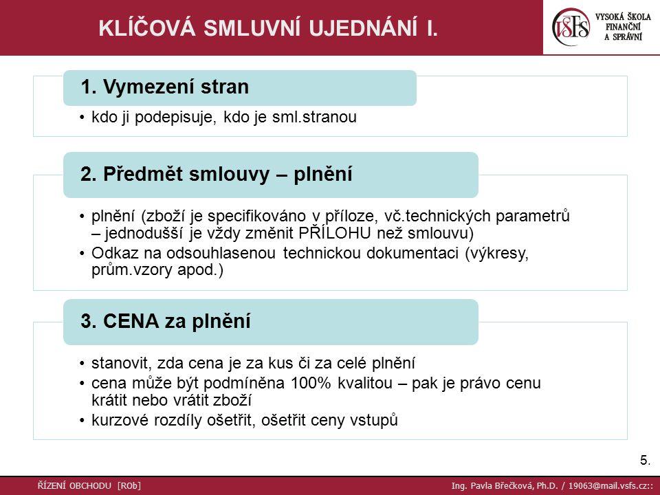 16.ŘÍZENÍ OBCHODU [ROb] Ing. Pavla Břečková, Ph.D.