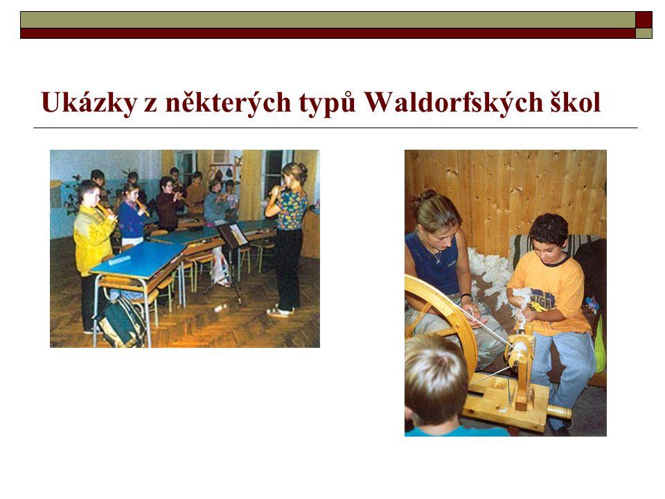 Ukázky z některých typů Waldorfských škol