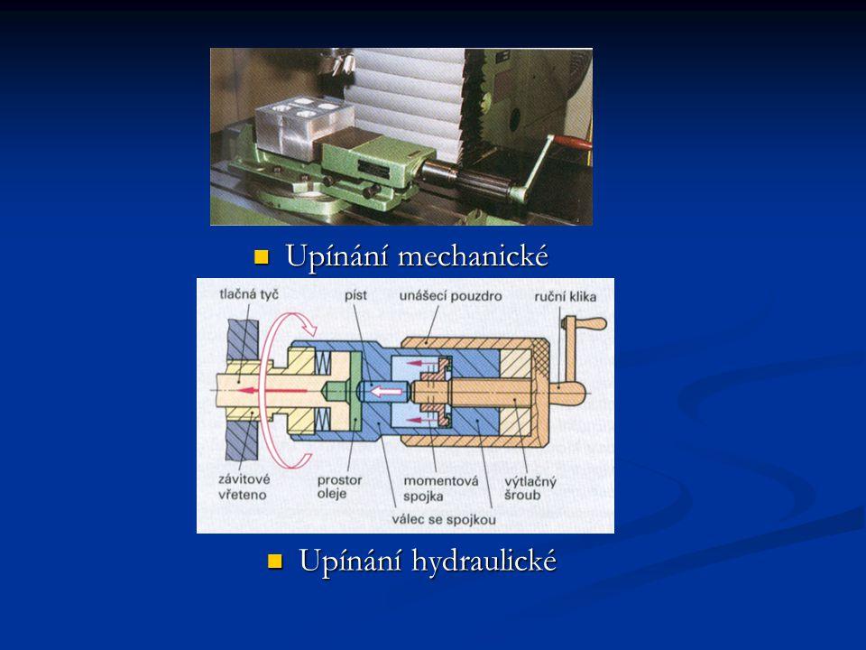 Upínání mechanické Upínání hydraulické Upínání hydraulické