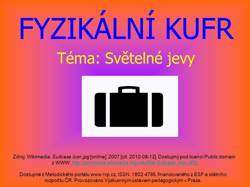 KULOVÉ ZRCADLO Dostupné z Metodického portálu www.rvp.cz, ISSN: 1802–4785, financovaného z ESF a státního rozpočtu ČR.