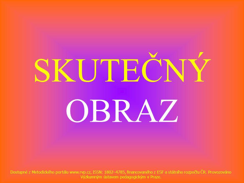 SKUTEČNÝ OBRAZ Dostupné z Metodického portálu www.rvp.cz, ISSN: 1802–4785, financovaného z ESF a státního rozpočtu ČR.