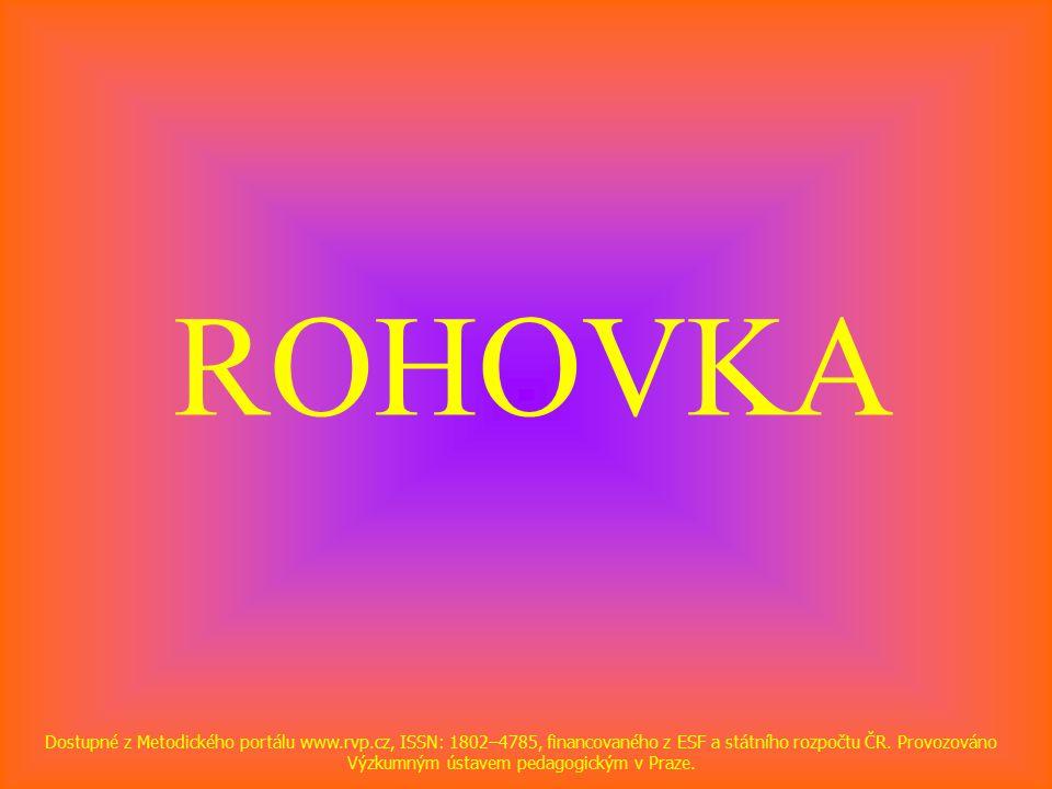 ROHOVKA Dostupné z Metodického portálu www.rvp.cz, ISSN: 1802–4785, financovaného z ESF a státního rozpočtu ČR.
