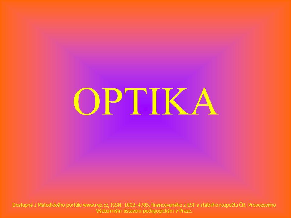 OPTIKA Dostupné z Metodického portálu www.rvp.cz, ISSN: 1802–4785, financovaného z ESF a státního rozpočtu ČR.