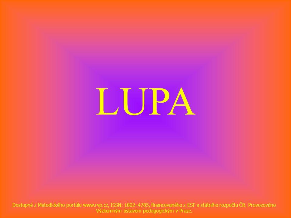 LUPA Dostupné z Metodického portálu www.rvp.cz, ISSN: 1802–4785, financovaného z ESF a státního rozpočtu ČR.