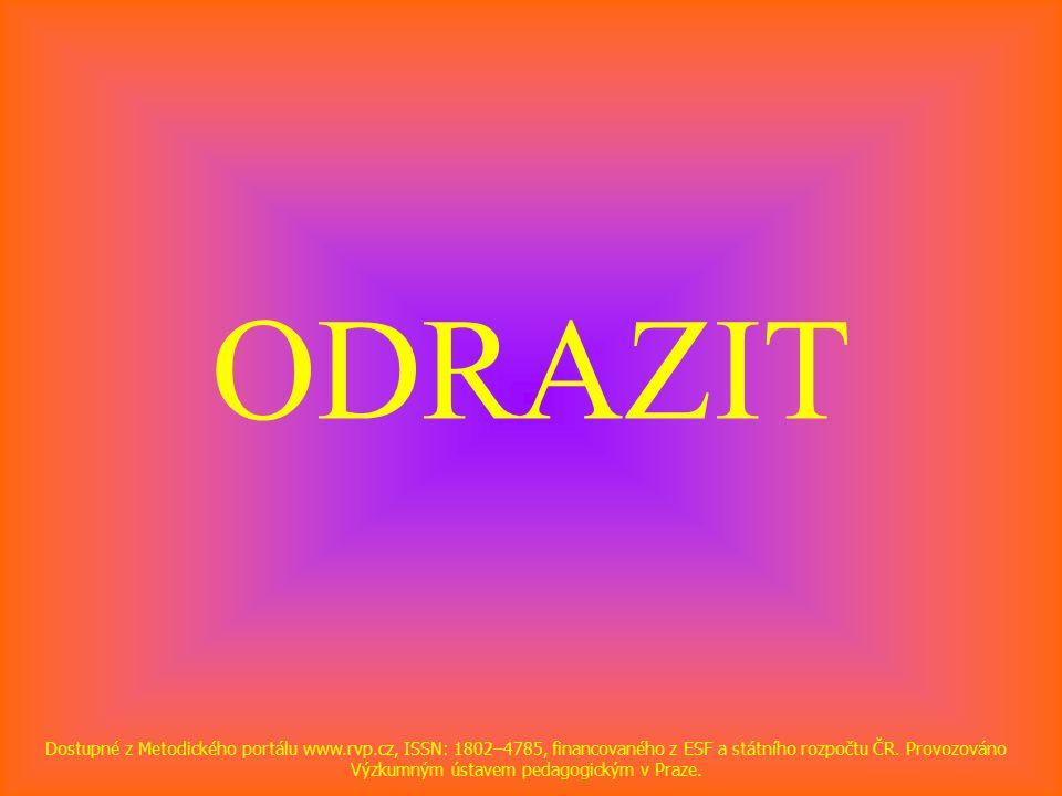 ODRAZIT Dostupné z Metodického portálu www.rvp.cz, ISSN: 1802–4785, financovaného z ESF a státního rozpočtu ČR.